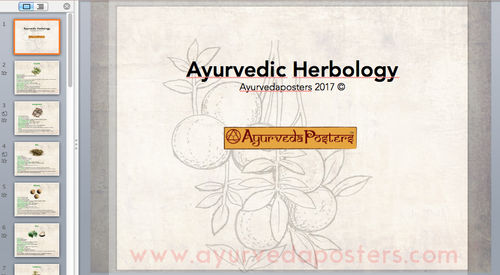 Ayurvedic Herbology Power Point