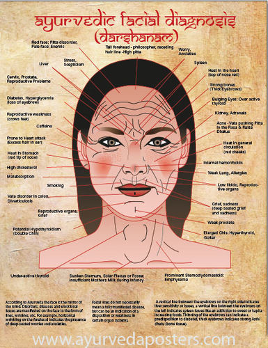 New facial diagnosis poster large
